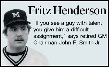 Fritz Henderson--Pitcher at University of Michigan 1980-84