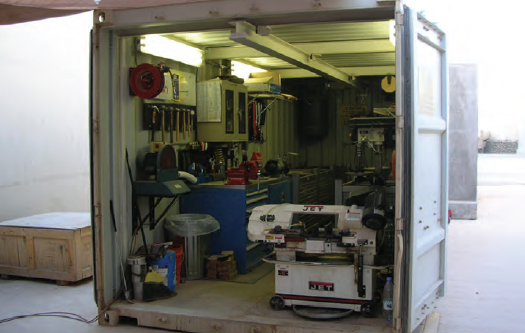 A view inside a Mobile Parts Hospital stationed in Iraq.