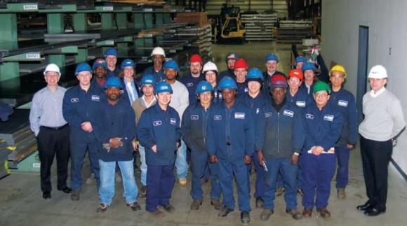 Photo: The staff at Klein Steel, Rochester New York. Photo courtesy of John Batiste, Klein Steel.