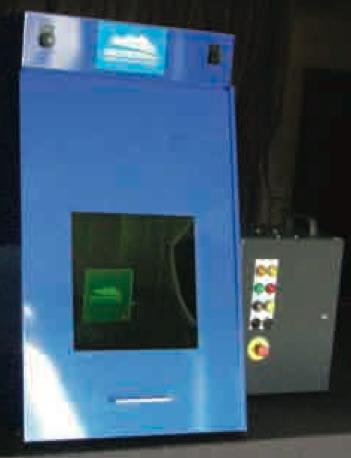 A tabletop laser marking system.