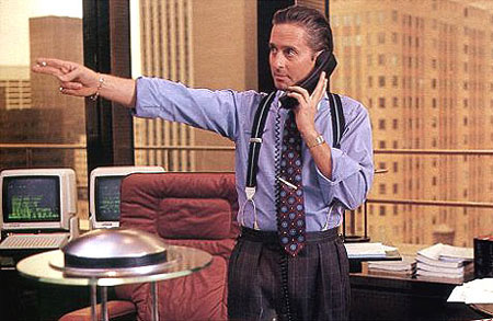 Label it Gordon Gekko, Wall Street (1987) from http://tapemixblog.wordpress.com/