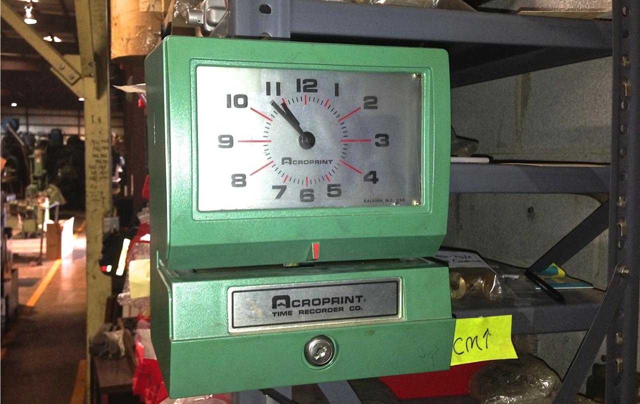 time card machine at graff pinkert - Time Card Machine