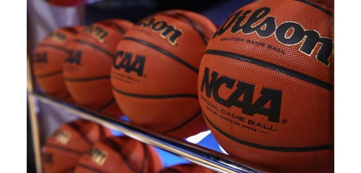 NCAA Basketballs await this year's Final Four