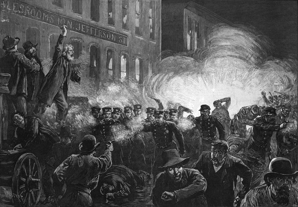 Haymarket Riot in Chicago, May 1st, 1886